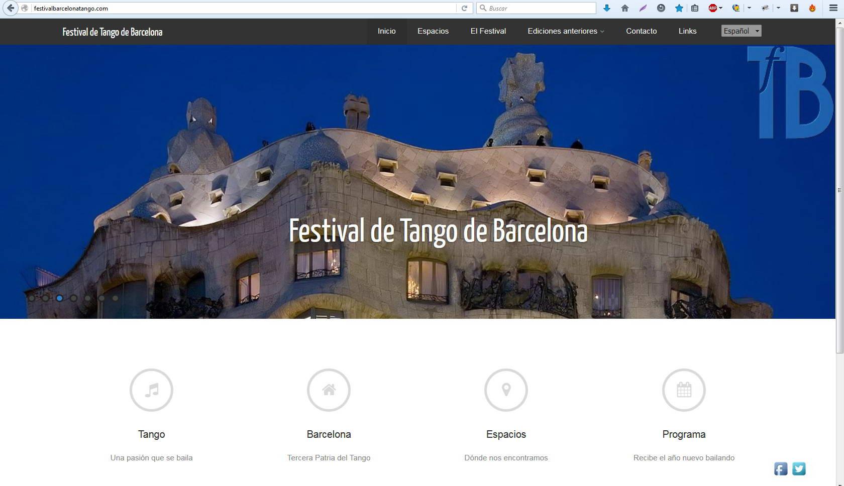 Webs: Festival de Tango de Barcelona