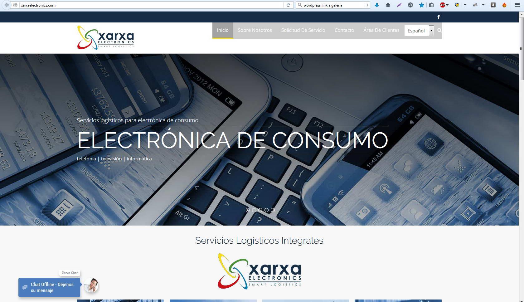 Webs: Xarxa electronics